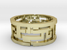 Labyrinth ring: size 9 (US) S (UK) 3d printed