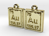 Gold Periodic Table Earrings 3d printed