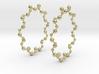 Molecule Big Hoop Earrings 60mm 3d printed