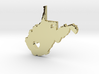 I Heart West Virginia Pendant 3d printed
