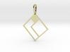 Tetromino Pendant - Diamond Two 3d printed