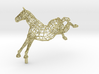 FREEDOM - Gold Plated Horse 3d printed
