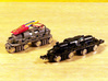 N Scale Baldwin-Westinghouse Steeplecab 3d printed A comparision of the modified chassis (on the left) and the stock chassis (on the right)