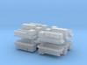 3mm Military GEV Cargo Trucks (12pcs) 3d printed
