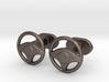 Steering wheel cufflinks 3d printed