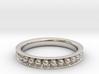 Sphere-Edged Ring (Sz 8) 3d printed