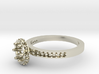 Ab030 Round Engagement Ring 3d printed