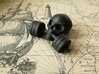 Training-Reminder - Skull with Dumbbell 3d printed Black Strong & Flexible