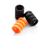 Spacer for pulleys with bearings MR105 3d printed Black Strong & Flexible, Orange polished Strong & Flexible