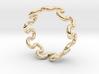 Wave Ring (22mm / 0.86inch inner diameter) 3d printed