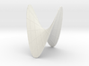 A Hyperbolic Paraboloid, with some Lines 3d printed
