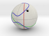 Elliptic Curve Addition on Sphere (1 component) 3d printed