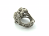 Lion Ring Bottle Opener Size 7  3d printed