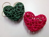 Heart by Heart 35mm Pendant. 3d printed red Hearts
