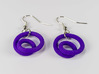 Infinite loop earring 3d printed Printed in purple, earring wires added