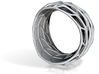 Panel Twist Bracelet Half Hollow (Sz SM) Thicker S 3d printed