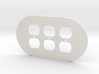 plodes® 3 Gang Duplex Outlet Wall Plate 3d printed
