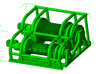 1/64th Heavy Truck Double Drum Winch w Guard 3d printed