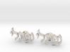"Hebrew Name Cufflinks - ""Naftali"" 3d printed"