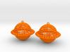 Saturn Voronoi Earrings 3d printed