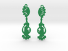 Peacock Earrings 3d printed