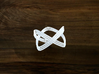 Turk's Head Knot Ring 2 Part X 3 Bight - Size 7 3d printed