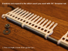 """30 tine knitting garter bar X 2 - 8mm v3 3d printed Expand with 1/4"""" threaded rod"""