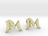 Monogram Cufflinks JM 3d printed