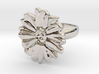a daisy flower ring 3d printed