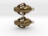 Bobcat Skull Earring Pair (2) - Horizontal Loop 3d printed