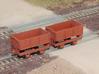 HOn2 Side Dump car, train of eight 3d printed