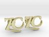Monogram Cufflinks ZC 3d printed