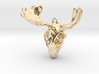Raccoon Moose Skull Pendant 3d printed