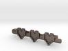 Legend of Zelda: Pixel Heart Tie Clip (skinny tie) 3d printed