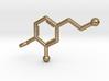 Dopamine Key chain 3D Printed Steel 3d printed