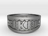 Biker Iron Ring Size 12 3d printed