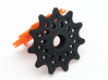 Pulley 11t for RD, spoked, flange (upper pulley) 3d printed