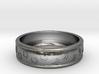 Size 6 Pet Paw Ring Engraved B  3d printed