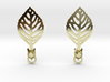 Turtle Leaf Earrings 3d printed