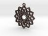 """""""Lotus"""" Pendant, Printed Metal 3d printed"""