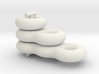 Surfaces of genus one, two and three 3d printed