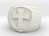 Cross Ring size 14 3d printed