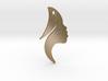Earing Girl silhouette 3d printed