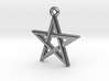 """Pentagram 2.0"" Pendant, Cast Metal 3d printed"