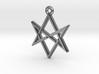 """Unicursal Hexagram"" Pendant, Cast Metal 3d printed"