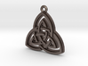 """Double Triquetra"" Pendant, Printed Metal 3d printed"