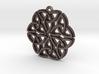 """""""Triquetra Ornament"""" Pendant, Printed Metal 3d printed"""