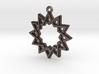 """""""Dodecagram 4.1"""" Pendant, Printed Metal 3d printed"""