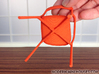 """Branca Modern Designer Chair 1:12 scale 3d printed """"Stepping"""" on bottom of seat"""