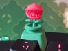 Piranha Plant Head Cherry MX Keycap 3d printed